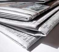 Image of Newspaper Underneath Flea Bombs
