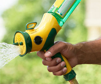 Picture of a hosepipe attachment used to spray essential oils in the yard